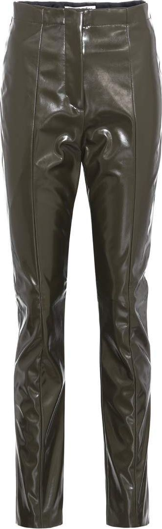Acne Studios Tugi Vinyl high-waisted trousers