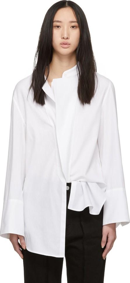 Ann Demeulemeester SSENSE Exclusive White Rigatino Shirt