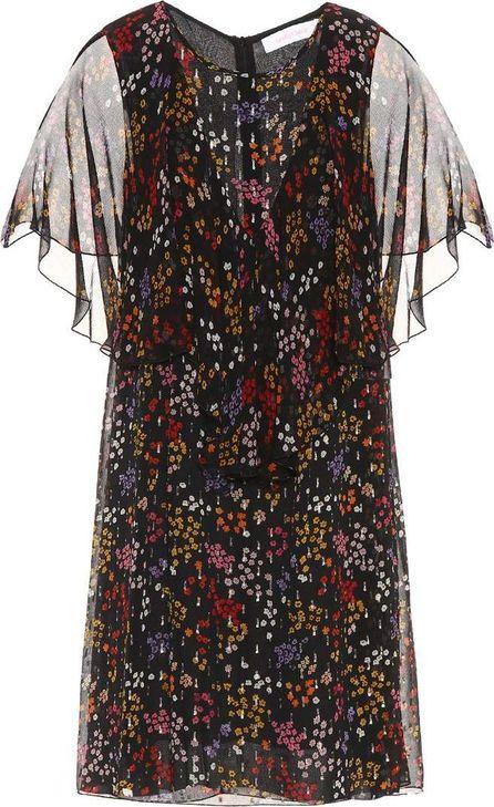 See By Chloé Floral-printed fil coupé silk dress