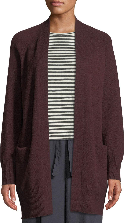 Vince - Long Cashmere Raglan-Sleeve Cardigan Sweater
