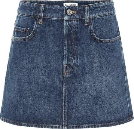 Balenciaga Denim miniskirt