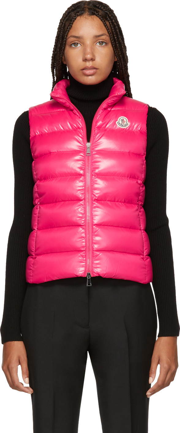 Moncler Pink Down Ghany Vest
