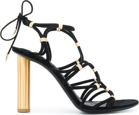 Salvatore Ferragamo High flower heel sandals