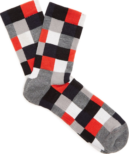 Ashmei Checked merino wool socks