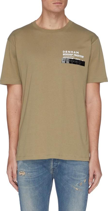 Denham 'Worship Tradition' slogan print cotton T-shirt