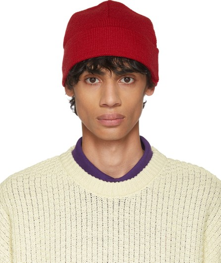 AMI Red Wool Beanie