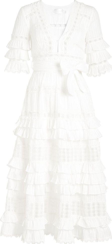 Zimmermann Corsair Frill Tier Cotton Dress
