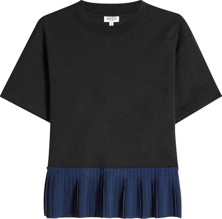 KENZO Cotton Top with Pleated Hem