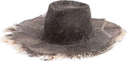 Reinhard Plank Nana raw-edge raffia hat