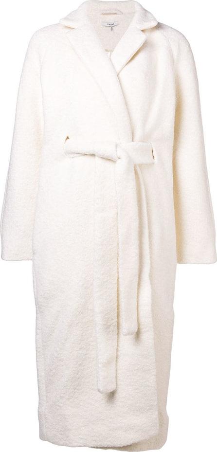 Ganni Fenn long wrap coat