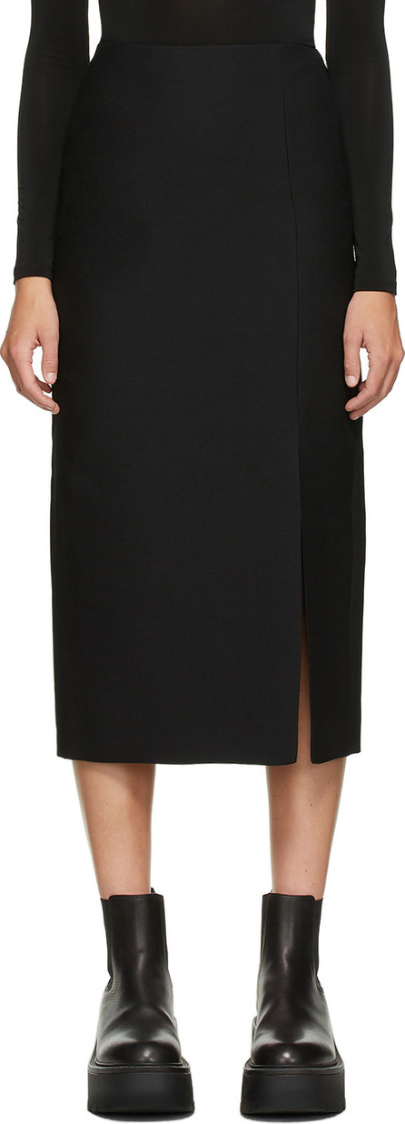 Valentino Black Wool & Silk Skirt