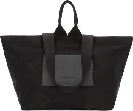 Alexander Wang Black Washed Satin Tote
