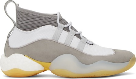 BED J.W. FORD Grey & White adidas Originals Edition Crazy BYW High-Top Sneakers