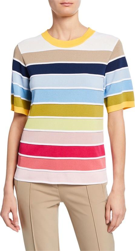 Escada 1/2-Sleeve Striped Sweater