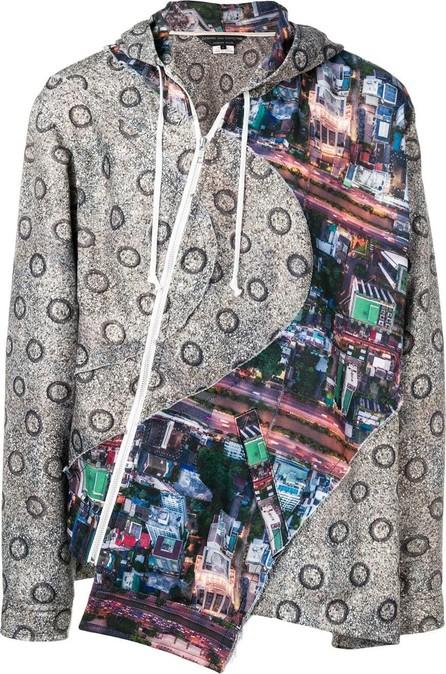Comme Des Garçons Homme Plus Printed panel hooded jacket
