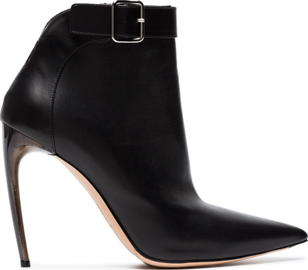 Alexander McQueen Leather pointed toe 105 ankle boots