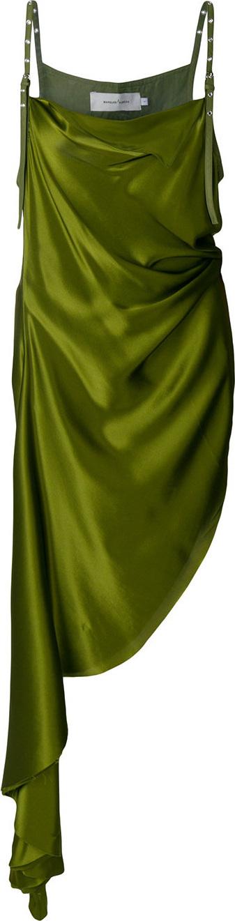 Marques'Almeida Asymmetric satin dress