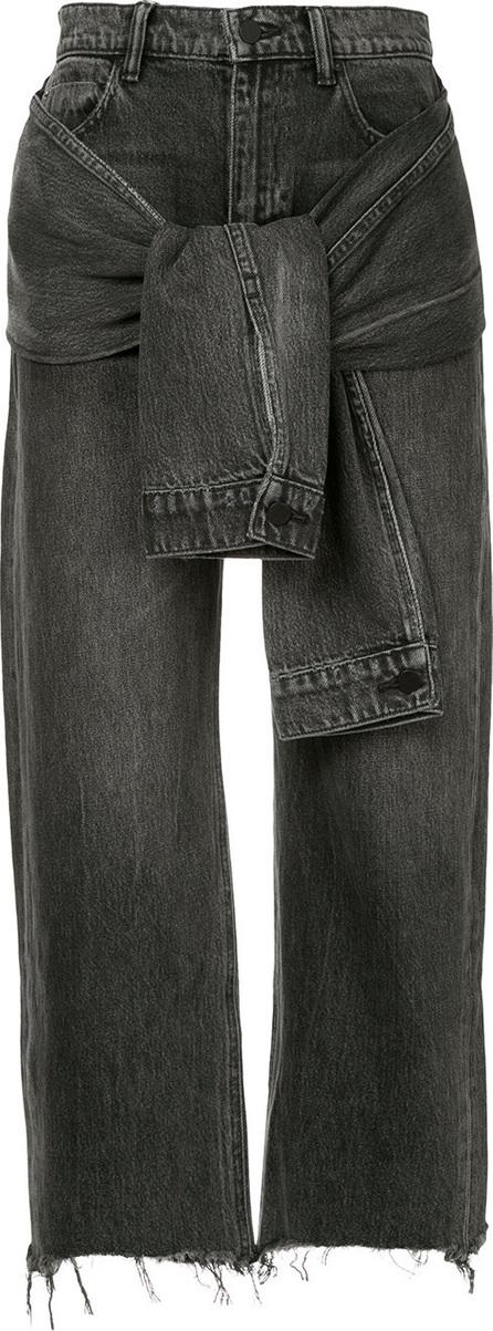 Alexander Wang Tie waist straight leg jeans