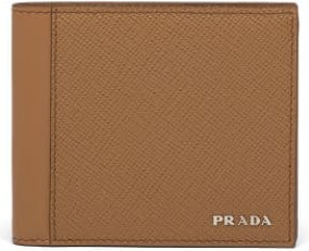 Prada Logo lettering bi-fold wallet
