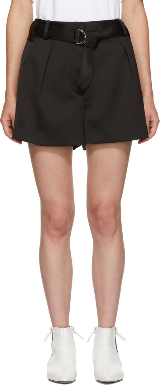 3.1 Phillip Lim Black Military Origami Shorts
