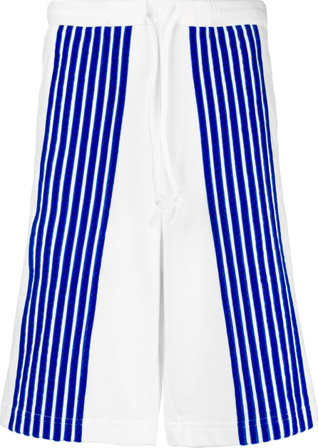 Dima Leu Striped appliqués shorts