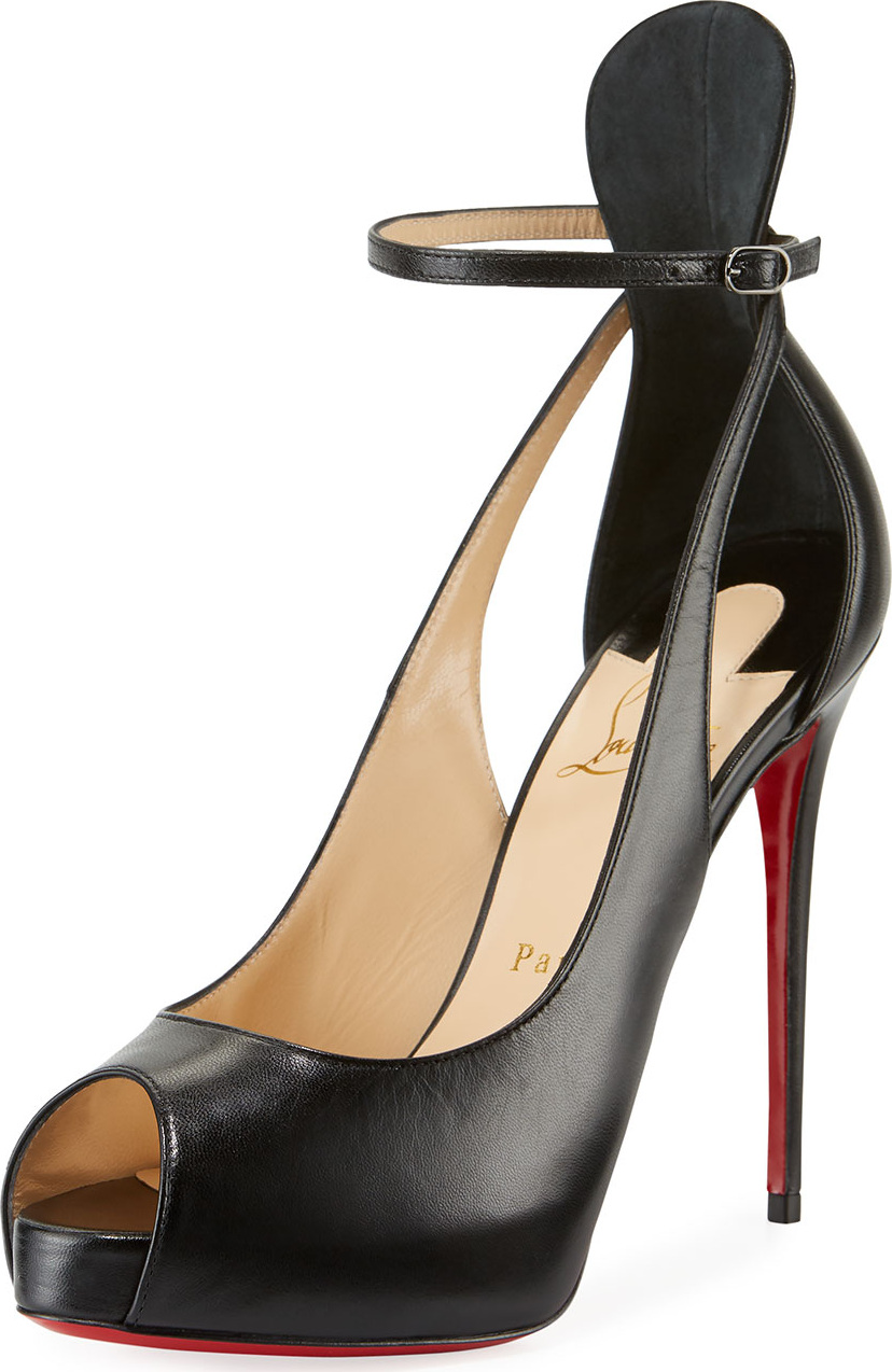 215ce025ad Christian Louboutin Mascaralta Platform Peep-Toe Red Sole Sandals - mkt