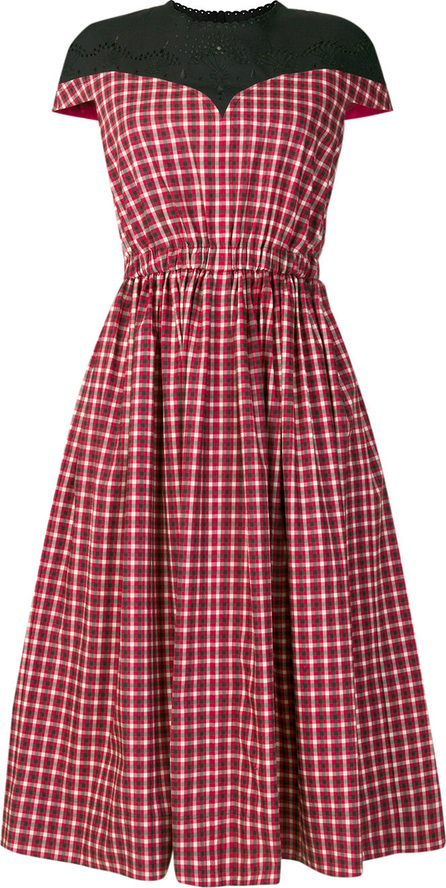 Fendi Plaid flared midi dress