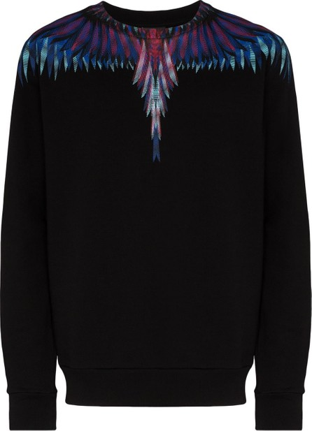 Marcelo Burlon Sharp wings-print cotton sweatshirt