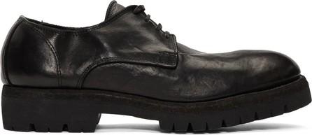 Guidi Black Leather Classic Derbys