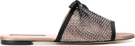 ROCHAS Crystal embellished net sandals