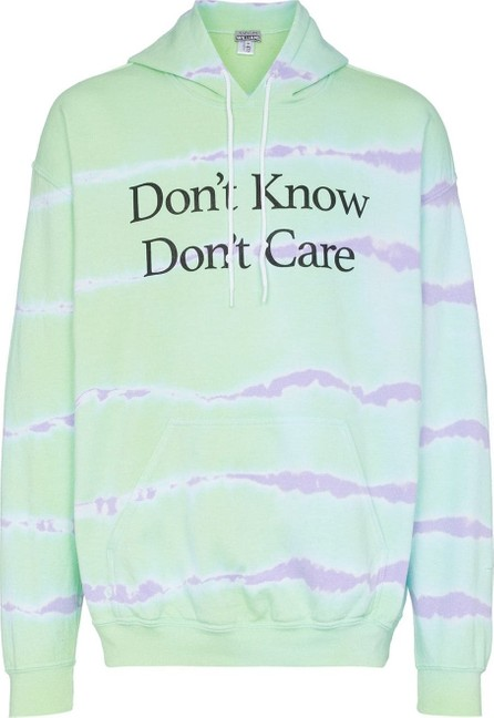 Ashley Williams Don't Know Don't Care tie-dye hoodie