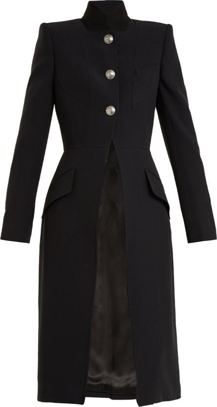 Alexander McQueen Stand-collar button-detail wool coat