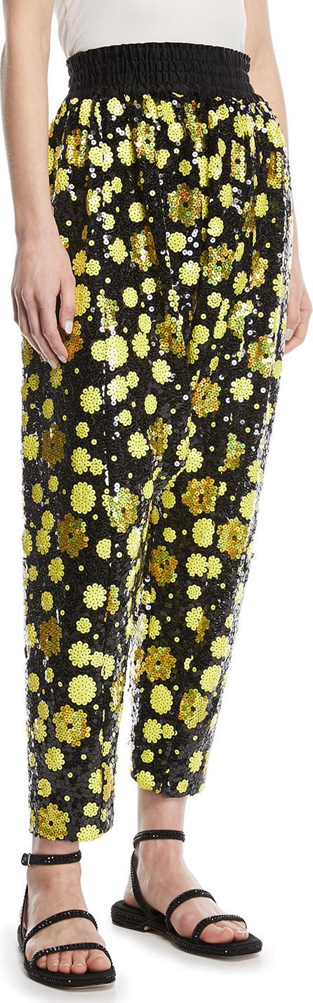 MARC JACOBS Holographic Daisy Sequin Harem Pants
