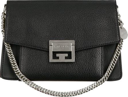 Givenchy GV3 Medium Pebbled Leather Shoulder Bag - Silvertone Hardware
