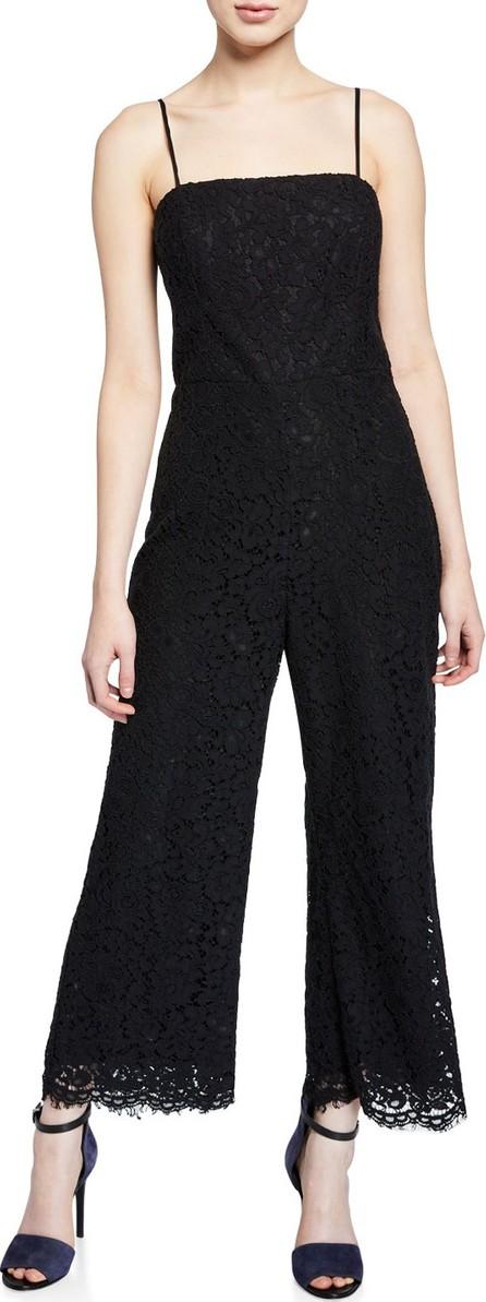 Bardot Sienna Sleeveless Cropped Scallop Lace Jumpsuit