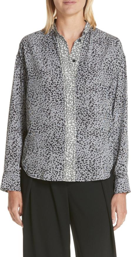 Rag & Bone Christie Cheetah Print Silk Shirt
