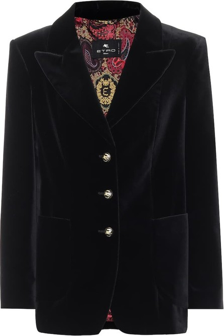 Etro Stretch-cotton velvet jacket