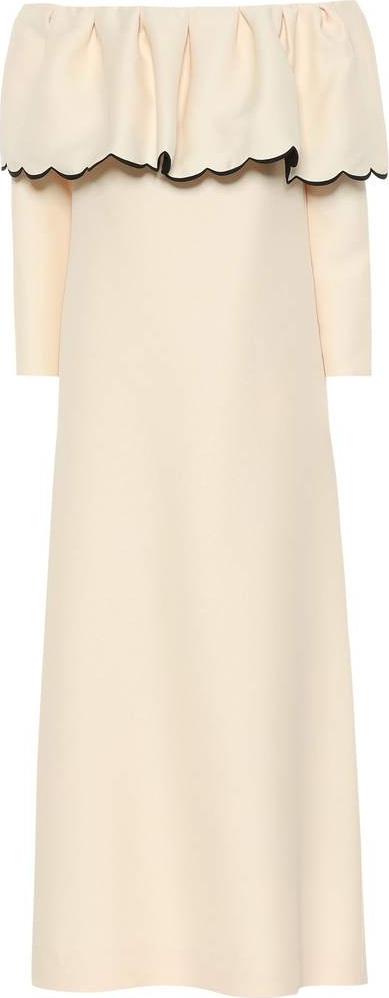 Valentino Off-the-shoulder crêpe dress