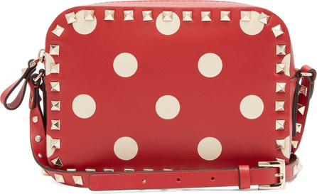 Valentino Rockstud camera polka-dot leather cross-body bag