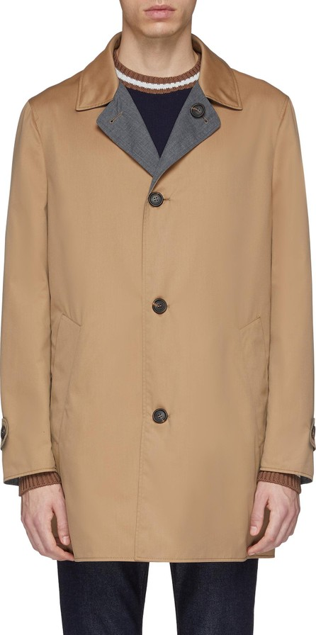 Brunello Cucinelli Reversible water-repellent twill coat