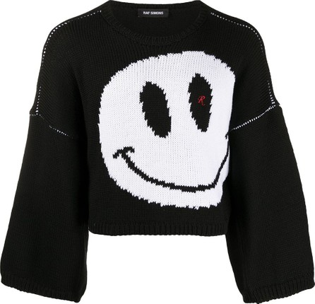 Raf Simons Cropped knitted smile jumper