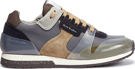 Acne Studios 'Jimmy Label' caged suede panel mesh sneakers