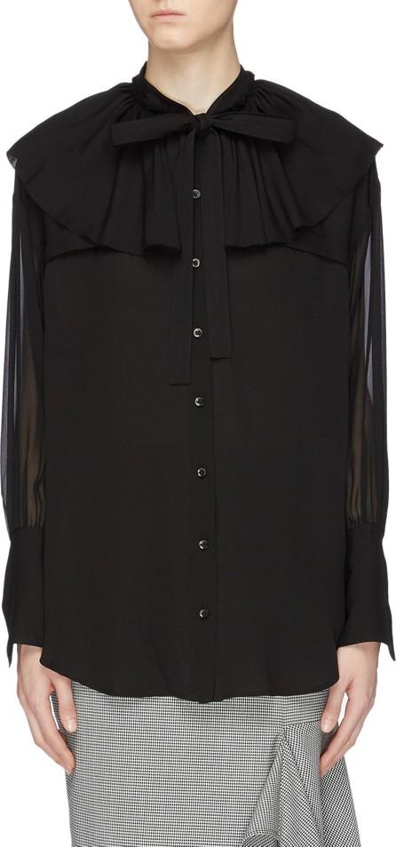 3.1 Phillip Lim Ruffle yoke silk pussybow shirt