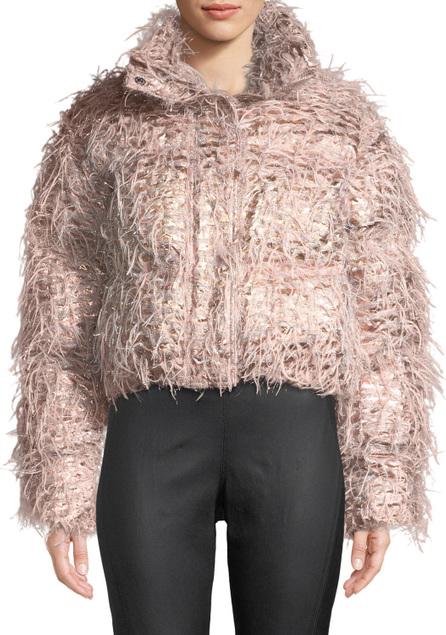 Anaïs Jourden Kira Confetti Cropped Puffer Jacket