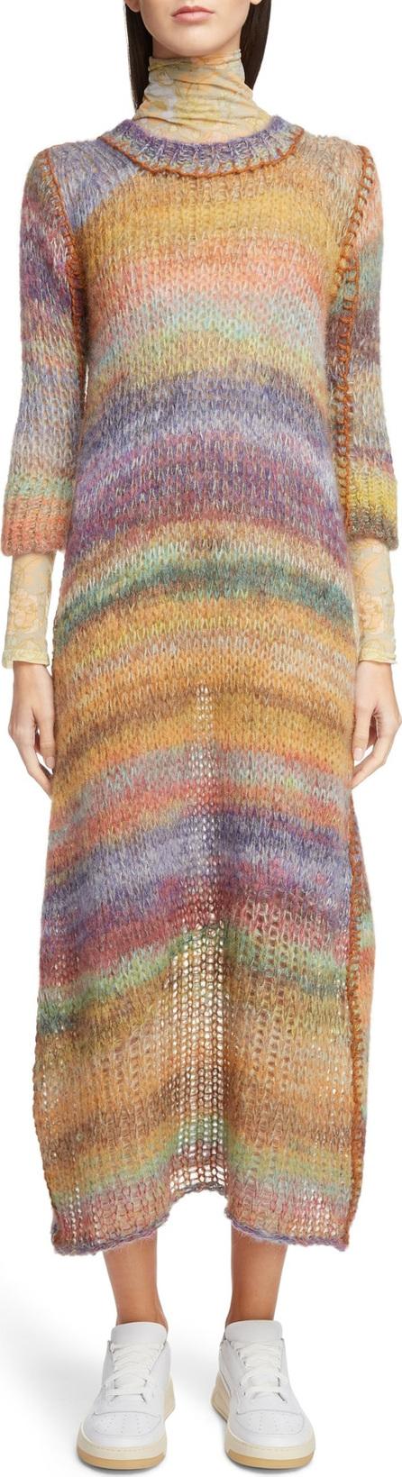 Acne Studios Space-Dye Stripe Sweater Dress