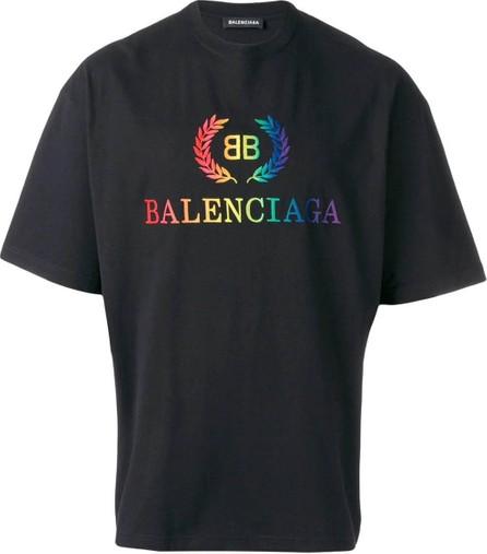 Balenciaga Rainbow logo t-shirt
