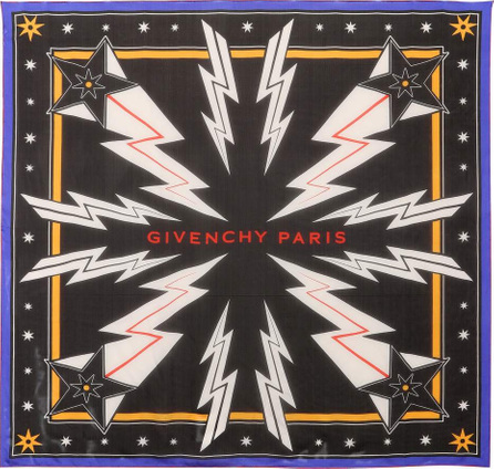 Givenchy Star=printed silk scarf