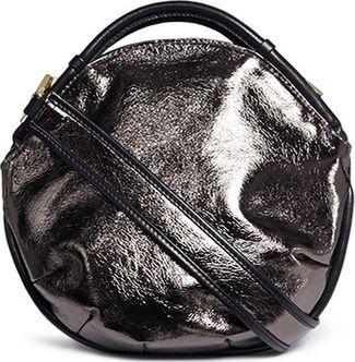 A-Esque 'Petal Pure Mini' colourblock metallic leather bag