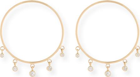 Zoe Chicco 14k Front-Facing Diamond Dangle Hoop Earrings