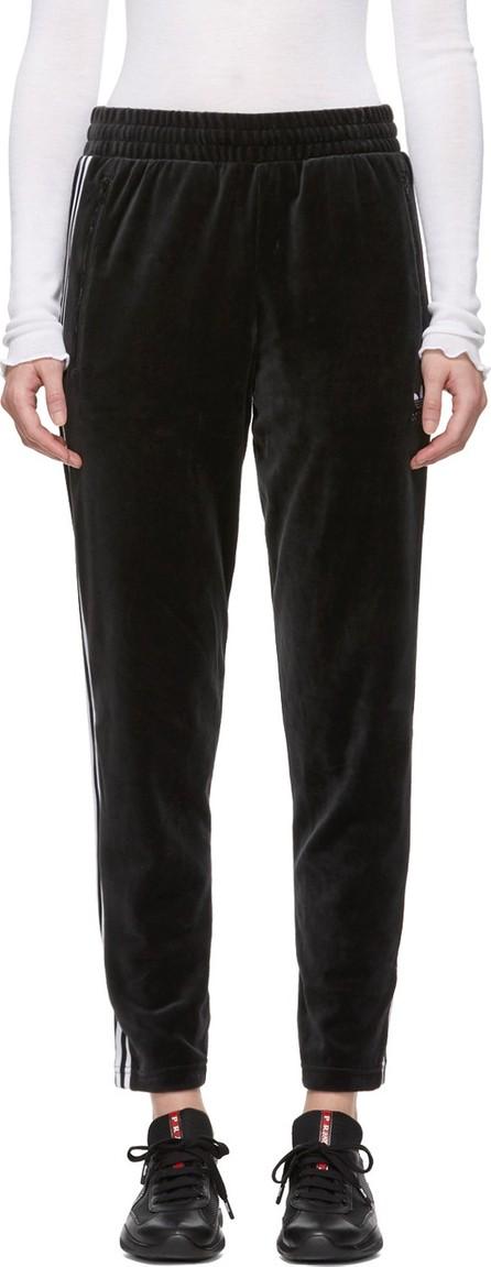 Adidas Originals Black Velour Cozy Lounge Pants